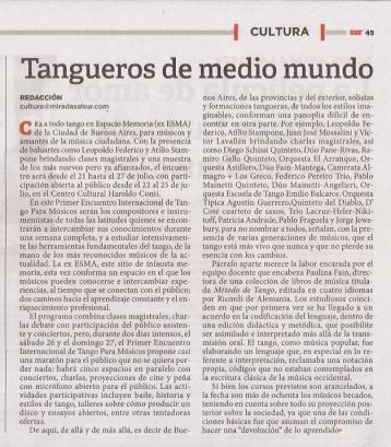 Diario Miradas al Sur – 20 de julio
